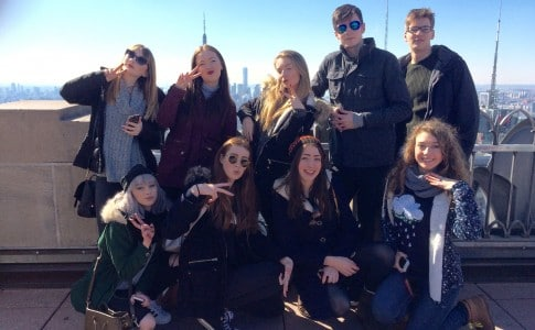 Performing Arts students on trip to New York