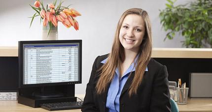 Accountant at desk