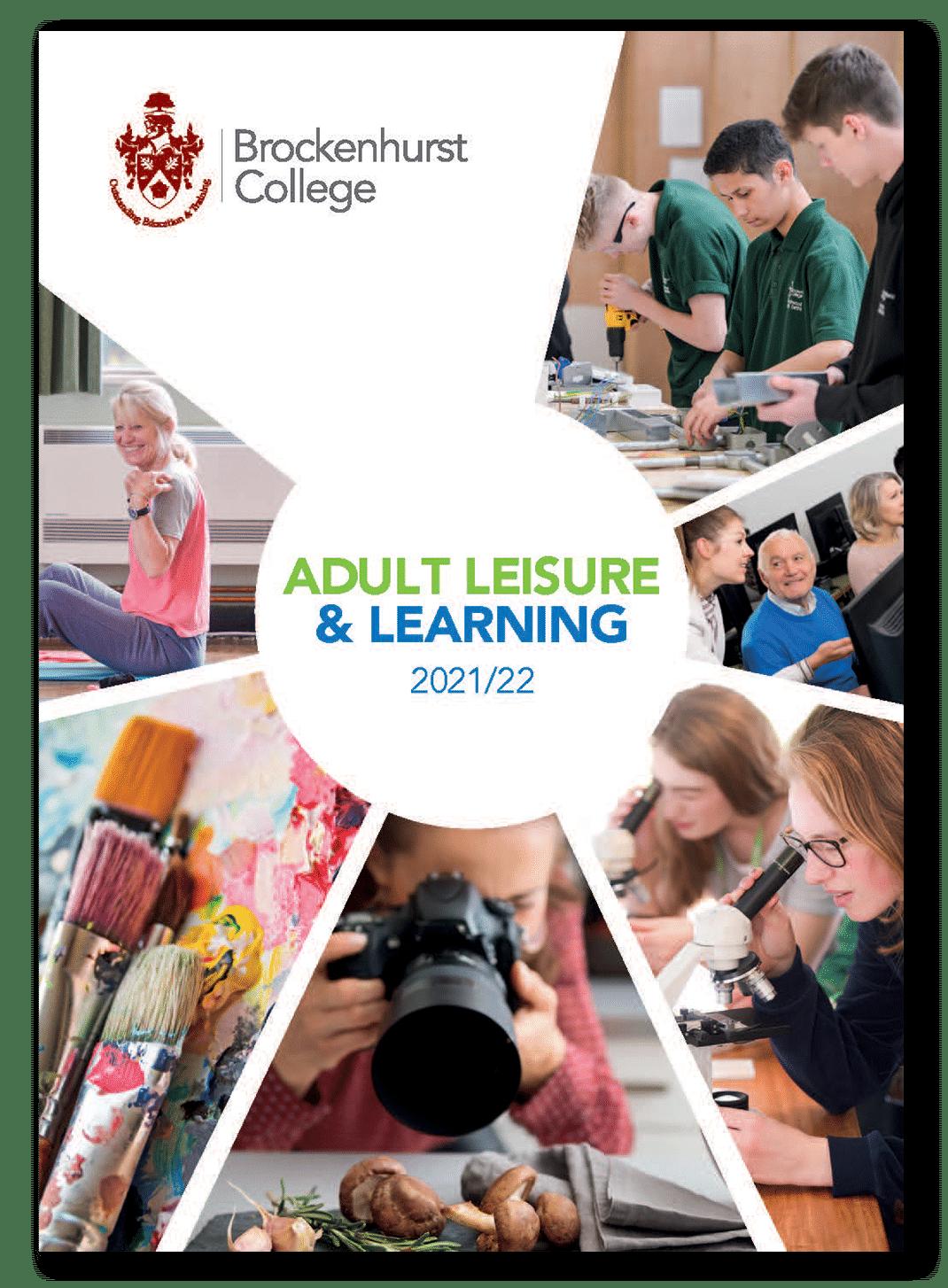 Adult Leisure & Learning Brochure 2021/22