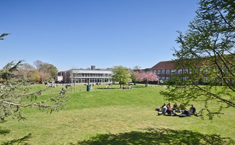 Campus exterior on summers day