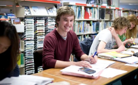 Students studying in LRC