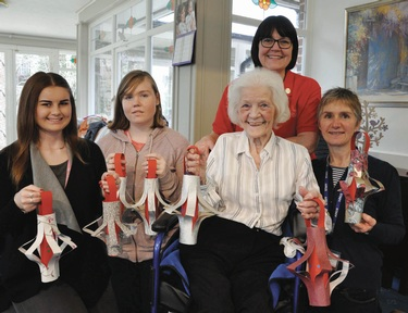 Students visit local care home for New Year