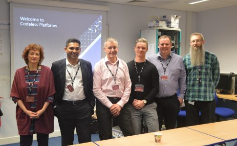 The visiting team from IT firm Codeless Platforms