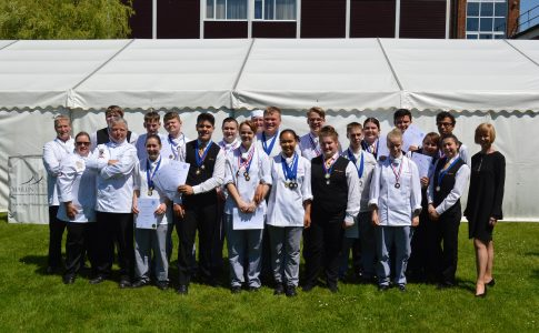 Brockenhust College winners show off their medals