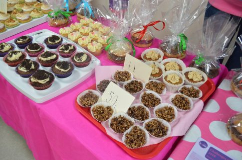 Cakes at Breast Cancer Haven fundraising tea party