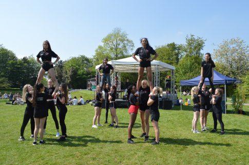 Cheerleading at Brock Fest