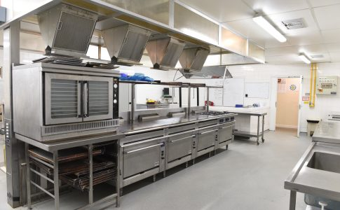 Kitchens at onsite restaurant MJs