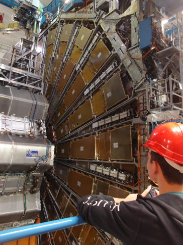 Student with the Atlas Detector