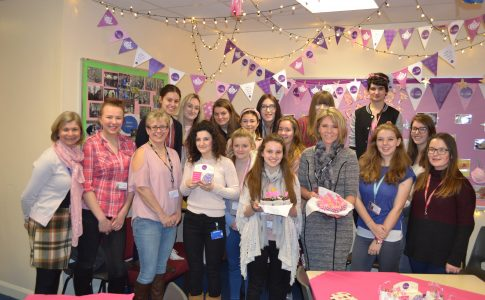Students taking part in Charity Cake Sale