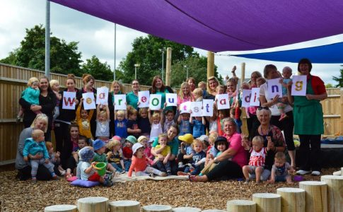 Highwood Nursery celebrating their outstanding ofsted review