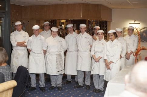 Brock Catering students worked with chefs from Careys Manor and Chewton Glen to prepare and serve the meal