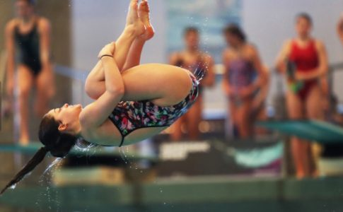 Brock student taking part in Scottish National Diving Championships