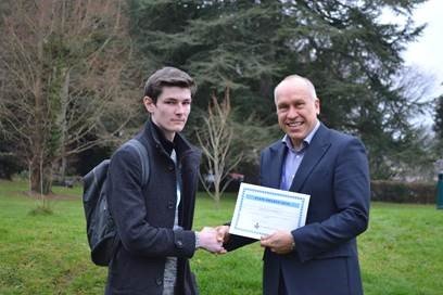 Maths student with Vice Principal, Alex Scott