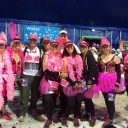 Mature upholstery students who completed the Moonwalk