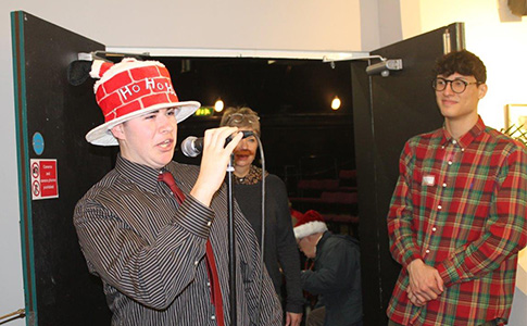 BTEC Business students at Music and Mince pies event