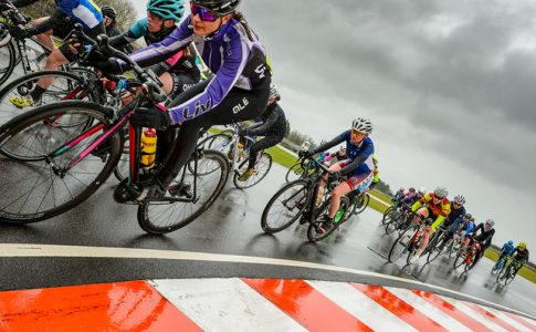 Student Lucy Gadd cycling
