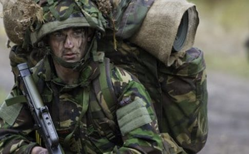 Brock army cadet in training