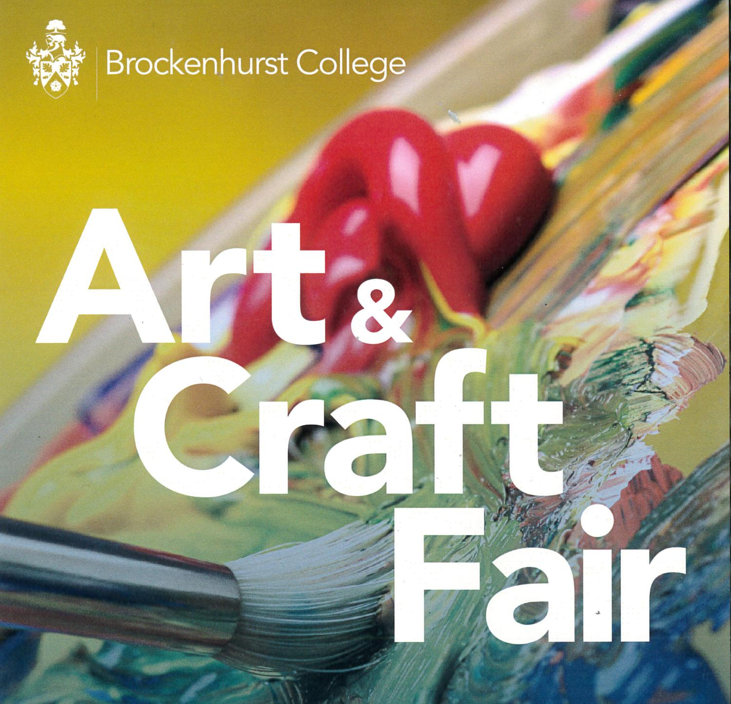 Poster for art and craft event