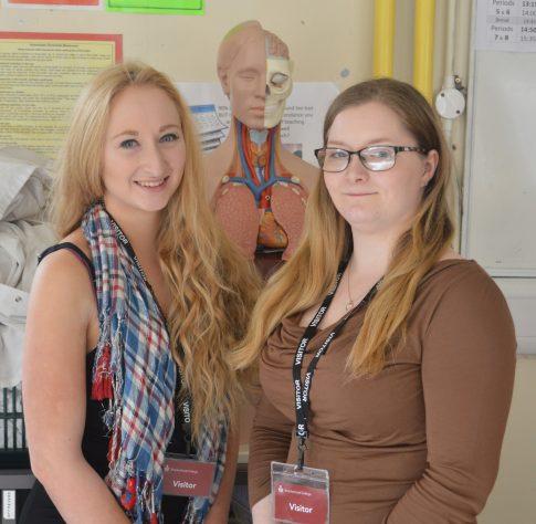 Rachael Roberts & Laura Benson (PHD students Portsmouth)