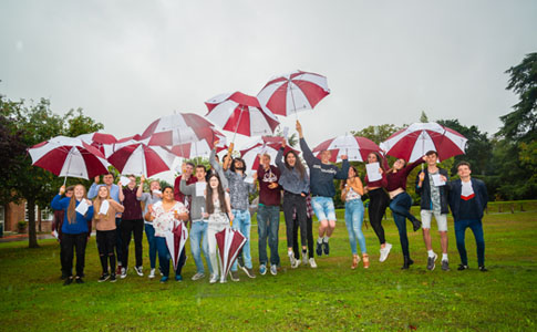 Students 'jumping for joy' at their A Level results