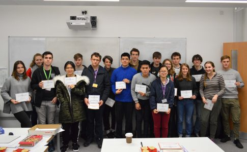 Students with Senior Maths Challenge certificate