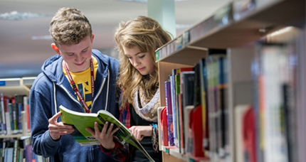 Sixth Form students studying in LRC