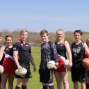 Sports students lined up in their kit