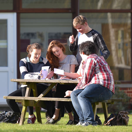 Students socialising on campus