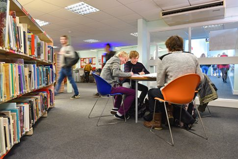 Students studying in our Learning Resource Centre