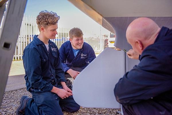Apprentices training at Berthon