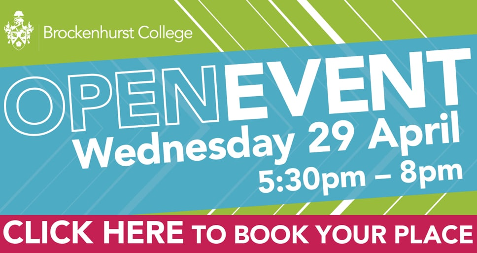 Open Event – Wednesday 29th April