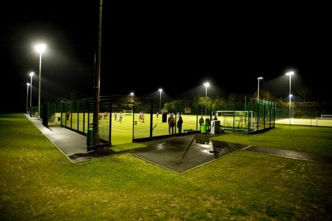 Full size Floodlit Artificial Turf Pitch at Brockenhurst College