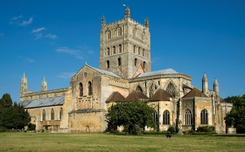 Tewkesbury Abbey in Gloucestershire