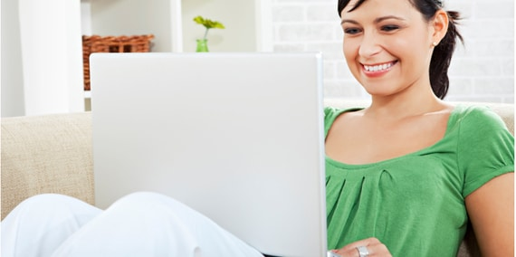 Woman Distance Learning