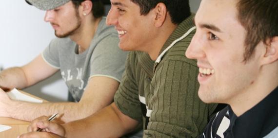 Men studying at Brock