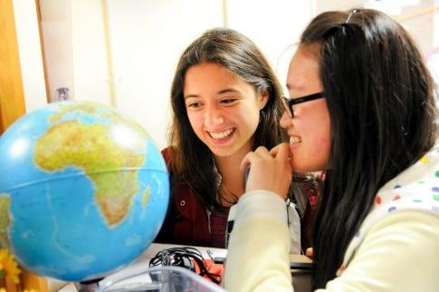 International Students studying Globe