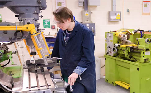 Student working on machine at Marchwood