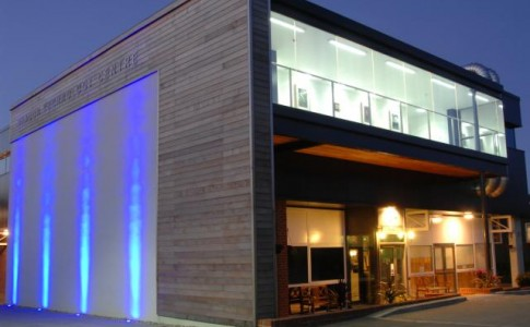New Forest Cookery School external at night