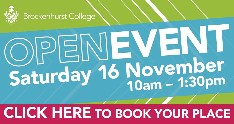 Open Event – Saturday 16th November