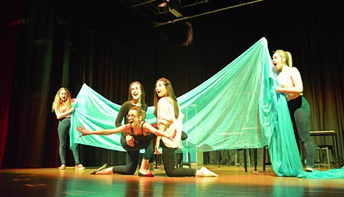 Performing Arts Students in rehearsal