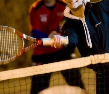 Tennis match at Brock Sports Centre