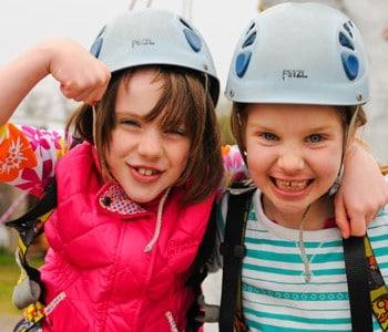 Children enjoying the facilities at Hengistbury Head Outdoor Activities Centre