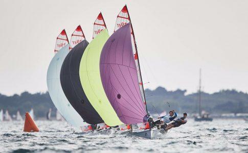 Student sailing for RYA
