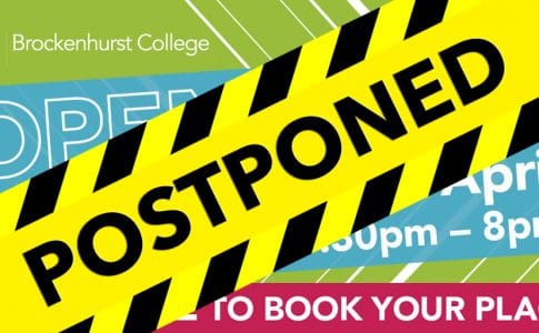 POSTPONED – Open Event – Wednesday 29th April